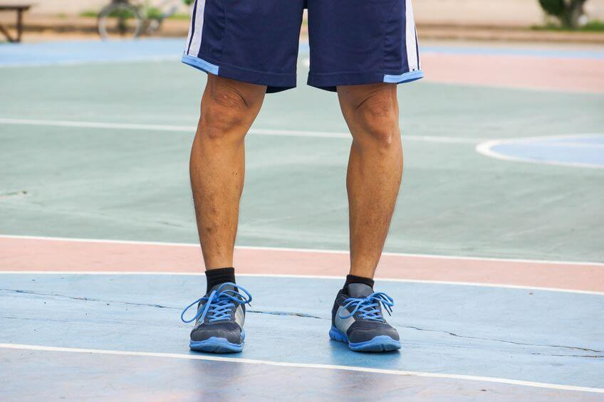 62057086 - a man with physiological bow legs